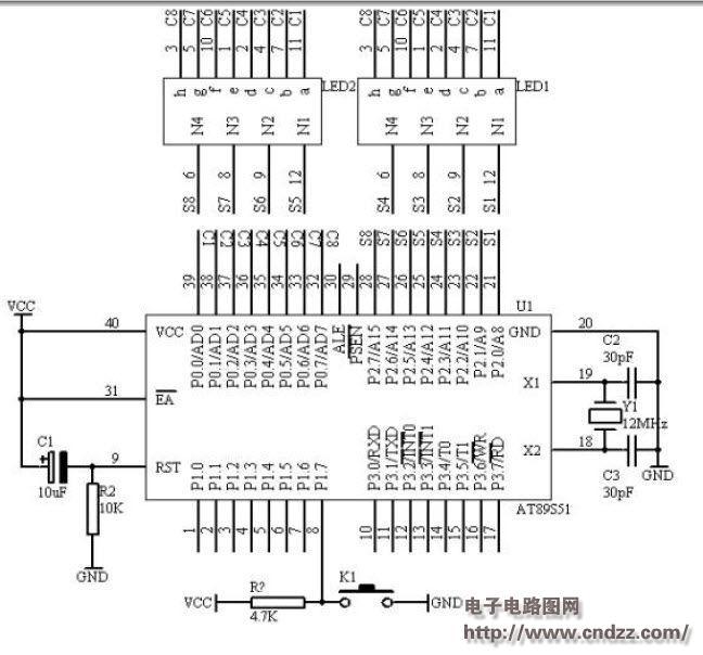 基于单片机的动态数码显示电路